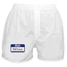 Hello: Wilson Boxer Shorts