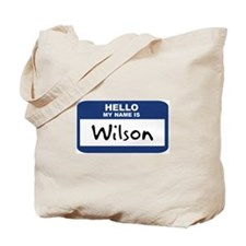 Hello: Wilson Tote Bag