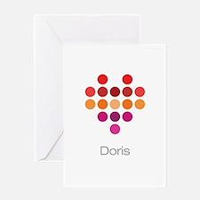 I Heart Doris Greeting Card