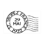 St. Tropez France 35x21 Wall Decal