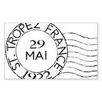 St. Tropez France Sticker (Rectangle 10 pk)