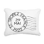 St. Tropez France Rectangular Canvas Pillow