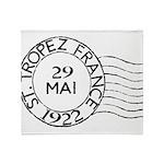 St. Tropez France Throw Blanket