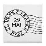 St. Tropez France Tile Coaster