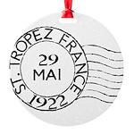 St. Tropez France Round Ornament