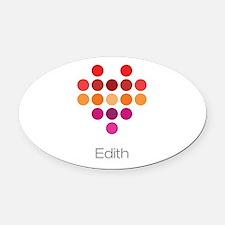 I Heart Edith Oval Car Magnet