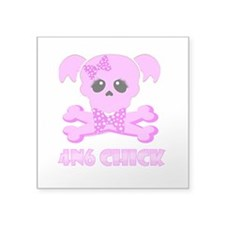 "NCIS Abby 4N6 Chick Square Sticker 3"" x 3"""
