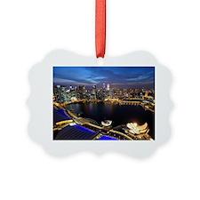 Ornament - Singapore city skyline at night