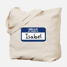 Hello: Isabel Tote Bag