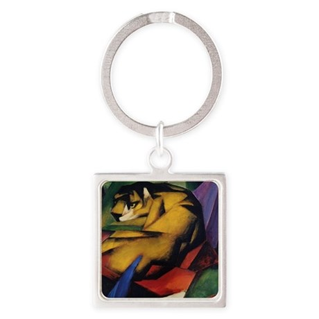 The Tiger Square Keychain