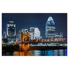 Cincinnati skyline. Poster
