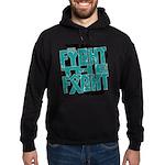 Fight The Fight Ovarian Cancer Hoodie (dark)