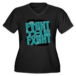 Fight The Fight Ovarian Cancer Women's Plus Size V