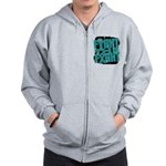 Fight The Fight Ovarian Cancer Zip Hoodie