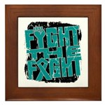 Fight The Fight Ovarian Cancer Framed Tile