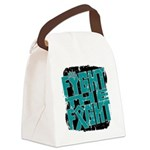 Fight The Fight Ovarian Cancer Canvas Lunch Bag