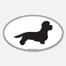DD Terrier Silhouette Oval Decal