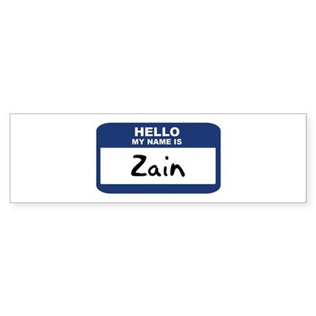 Hello: Zain Bumper Sticker