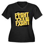 Fight The Fight Neuroblastoma Women's Plus Size V-