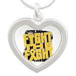 Fight The Fight Neuroblastoma Silver Heart Necklac
