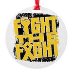 Fight The Fight Neuroblastoma Round Ornament