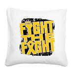 Fight The Fight Neuroblastoma Square Canvas Pillow