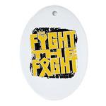 Fight The Fight Neuroblastoma Ornament (Oval)