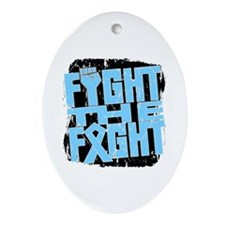 Fight The Fight Prostate Cancer Ornament (Oval)