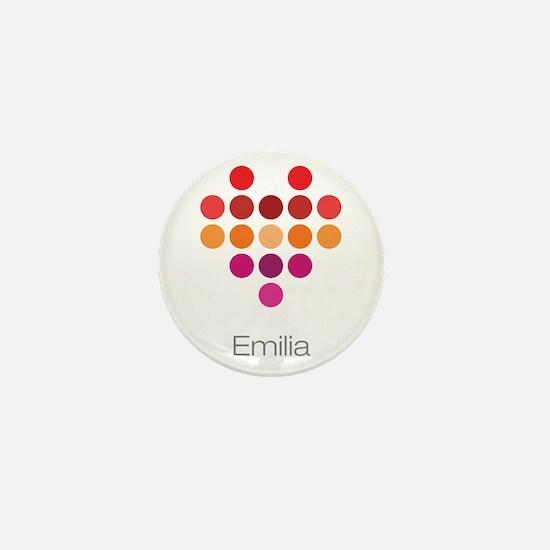 I Heart Emilia Mini Button