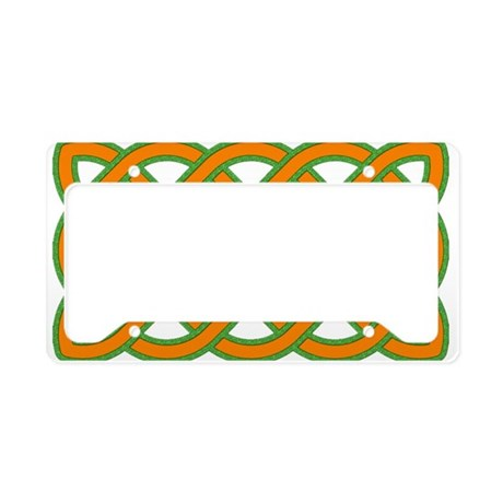 Celtic knot rectangular Green and Orange License P by ...