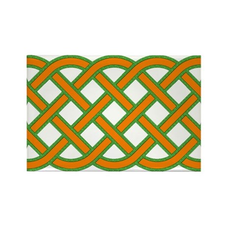 Celtic knot rectangular Green and Orange Rectangle by ...