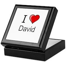 I love David heart tee Keepsake Box