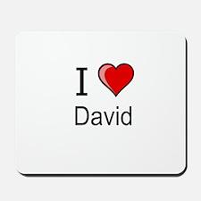I love David heart tee Mousepad