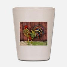 Rooster by the Barn Shot Glass