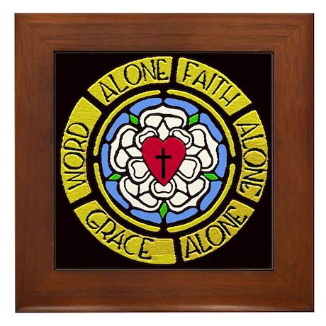 Grace Faith Word Framed Tile