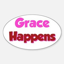 Grace Happens Rectangle Bumper Stickers
