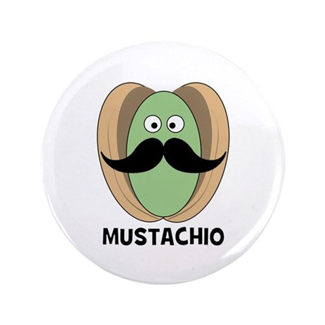 "The Great Mustachio 3.5"" Button"