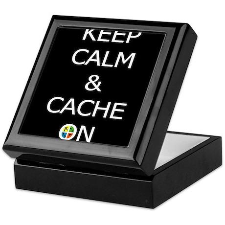Keep Calm & Cache On Keepsake Box