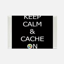 Keep Calm & Cache On Rectangle Magnet