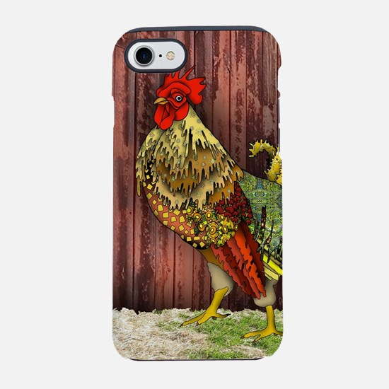 Rooster by the Barn iPhone 7 Tough Case