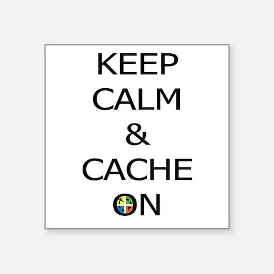 Keep Calm & Cache On Sticker
