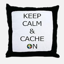 Keep Calm & Cache On Throw Pillow