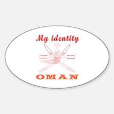 My Identity Oman Sticker (Oval)