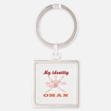 My Identity Oman Square Keychain