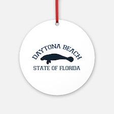 Daytona Beach - Manatee Design. Ornament (Round)