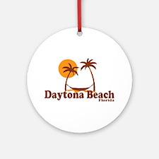 Daytona Beach - Palm Trees Design. Ornament (Round