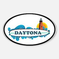 Daytona Beach - Surf Design. Sticker (Oval)
