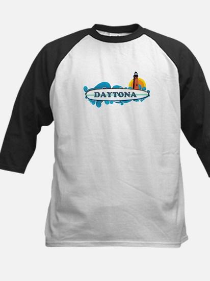 Daytona Beach - Surf Design. Kids Baseball Jersey