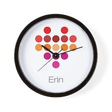 I Heart Erin Wall Clock