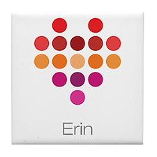 I Heart Erin Tile Coaster
